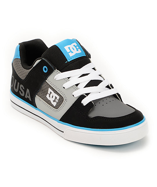 dc boys grey black blue skate shoes at zumiez pdp