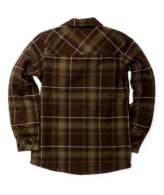 DC Boys Quid Olive Flannel Shirt