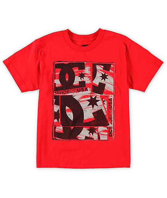 DC Boys Shadowburn Red T-Shirt