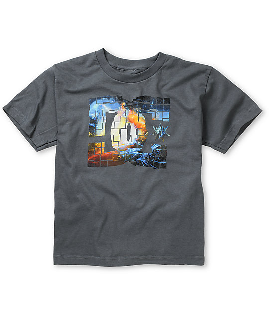 DC Boys Space Riot Charcoal T-Shirt