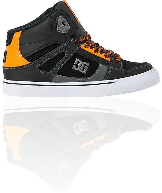 DC Boys Spartan Hi Pastrana Black & Orange Skate Shoes
