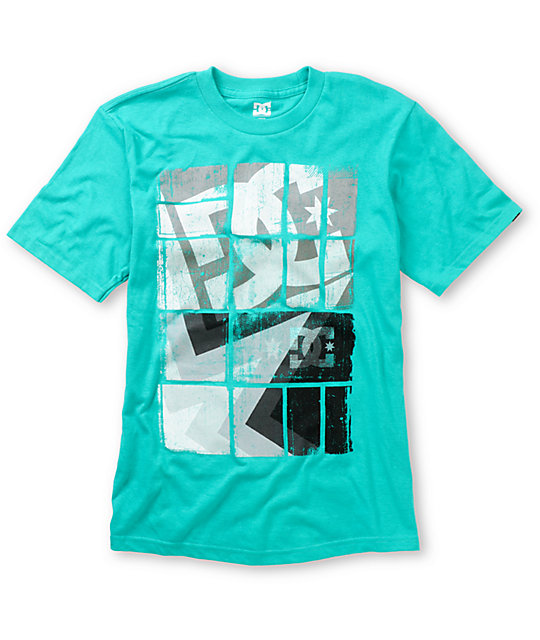 Dc boys square stars teal t shirt zumiez for Boys teal t shirt