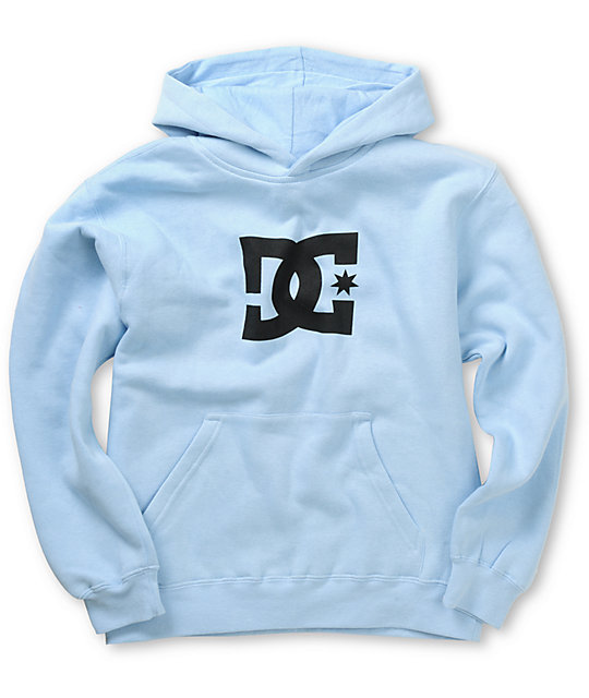 DC Boys Star Light Blue Pullover Hoodie