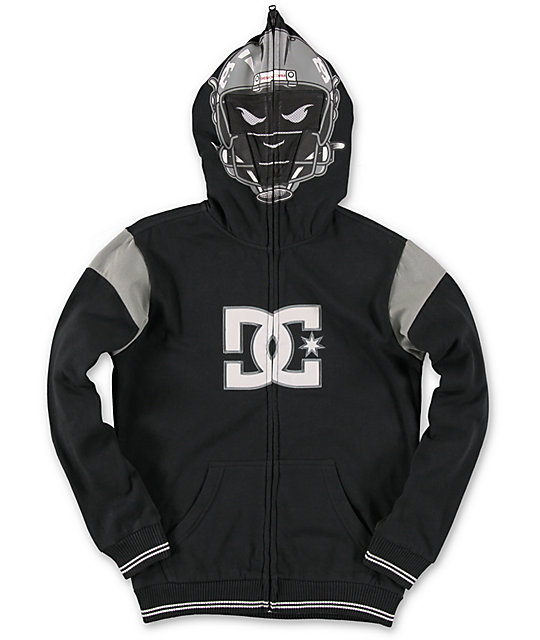 DC Boys Touchdown Black Full Zip Face Mask Hoodie at Zumiez : PDP