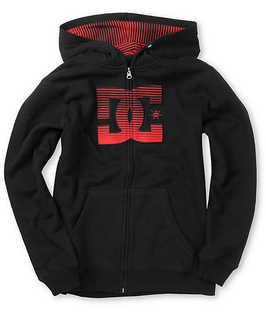 DC Boys Treble Black Fleece Hoodie