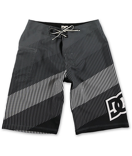 DC Brap Black Stripe Boys Board Shorts
