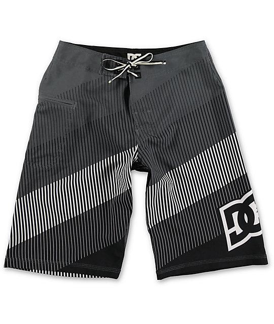 DC Brap Black Stripe Boys Board Shorts