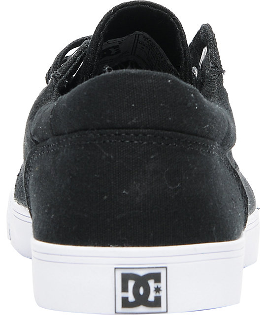 DC Bristol Canvas Black & White Shoes