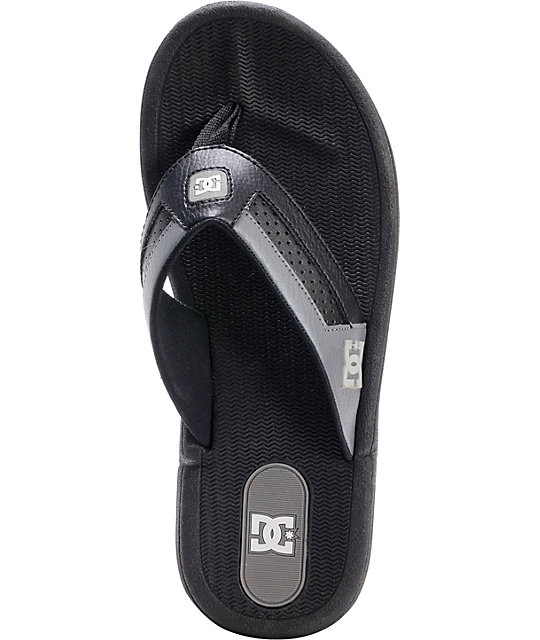 DC Cabo Battleship Black Sandals