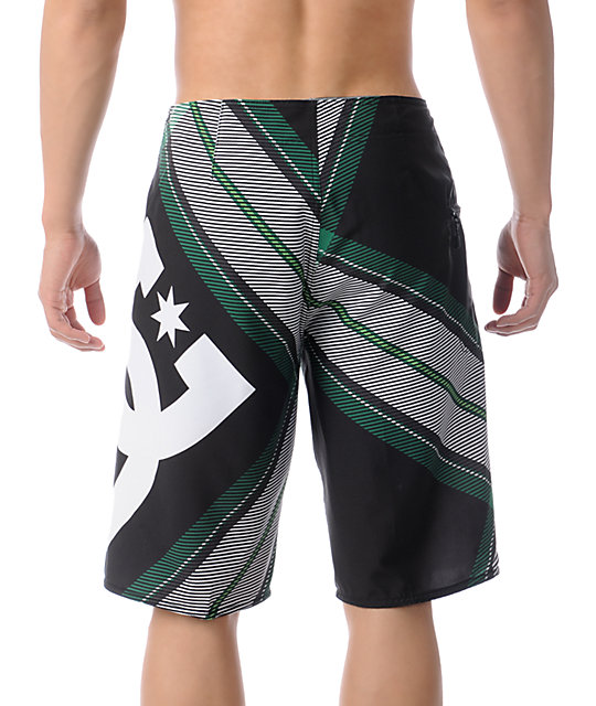 DC Campaign Black Plaid 23 Board Shorts