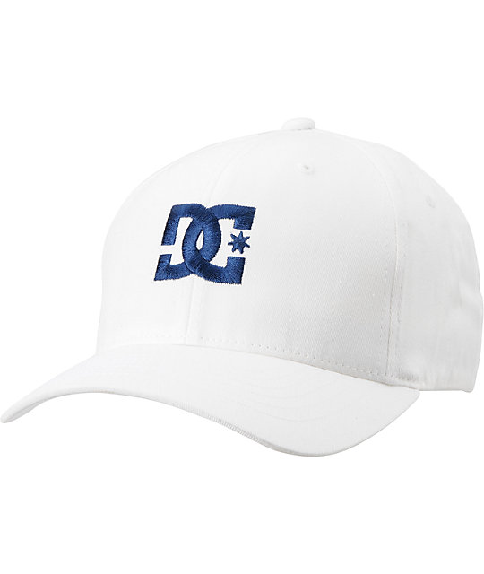 DC Cap Star White Flexfit Hat
