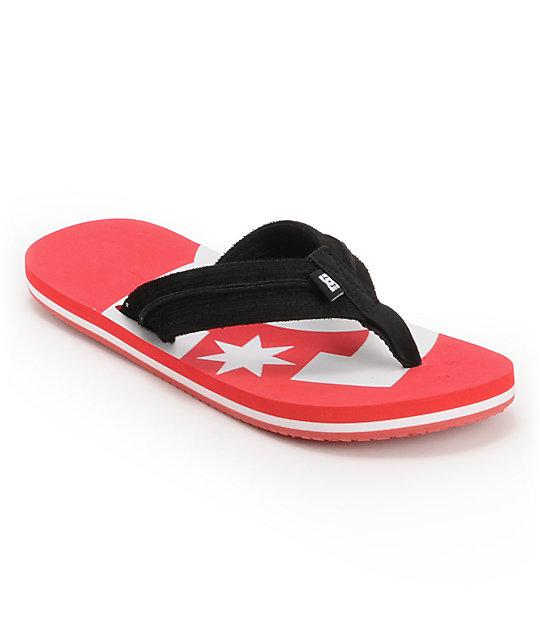 DC Central Red & Black Sandals