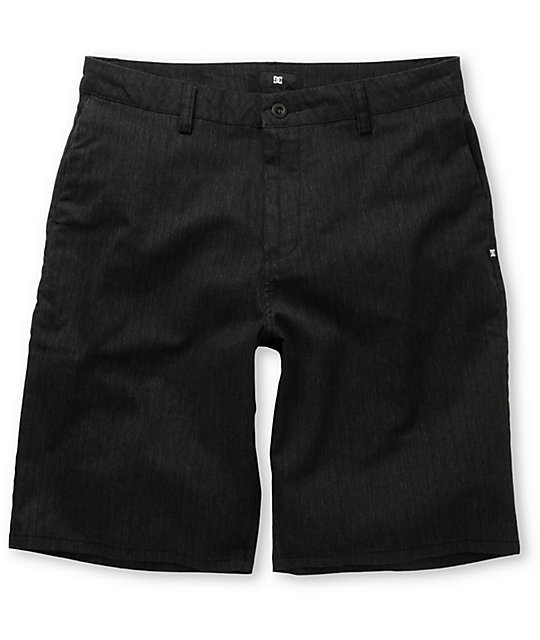 DC Charcoal Pinstripe Chino Shorts
