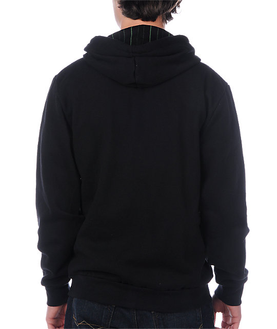 DC Checked Black & Green Hoodie