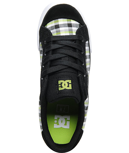 DC Chelsea Black & Lime Skate Shoes