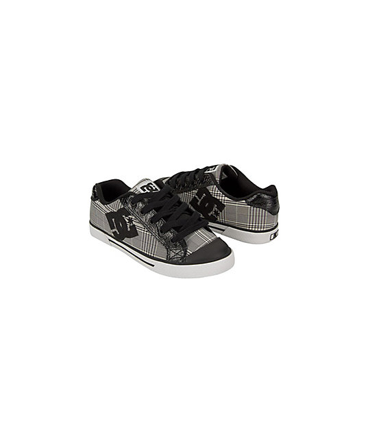 DC Chelsea Black & Plaid Shoes