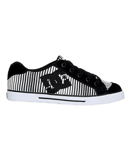 DC Chelsea Black & White Stripe Shoes