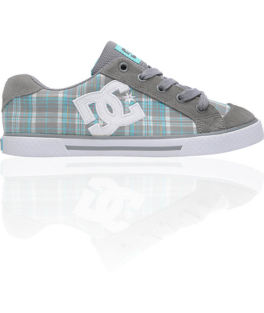 DC Chelsea Wild Dove & Ocean Plaid Shoes