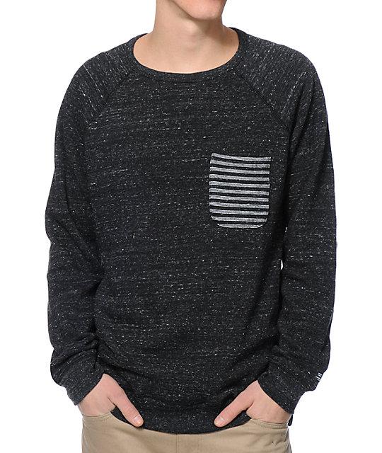 DC Chester Black Crew Neck Pocket Sweatshirt