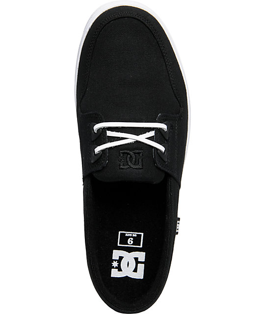 DC Club TX Black Canvas Slippers