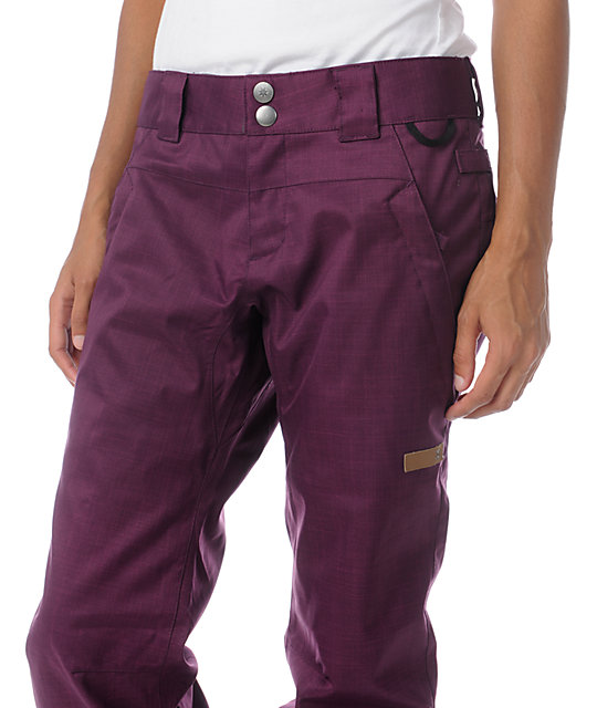 DC Contour Slim 5K Dark Purple Snowboard Pants