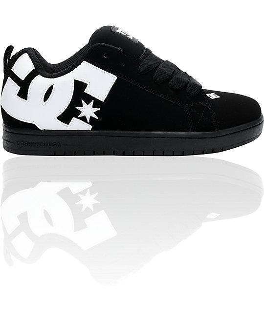 DC Court Graffik Black, White, & Carbon Skate Shoes