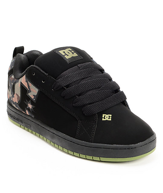 DC Court Graffik SE Black & Camo Skate Shoes