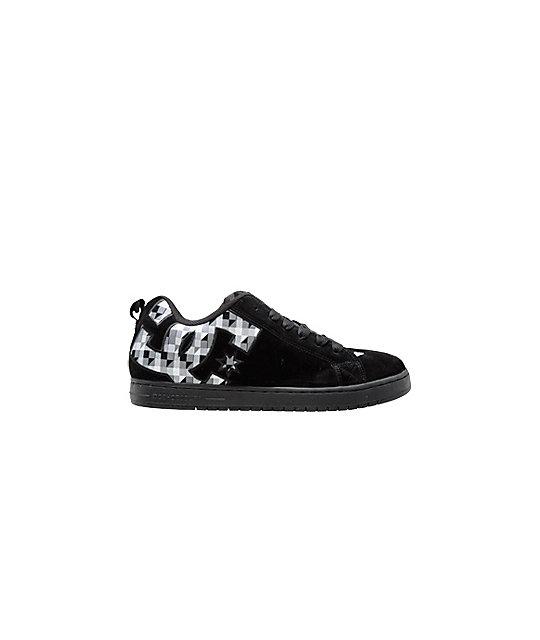 DC Court Graffik SE Black & Geo Plaid Shoes