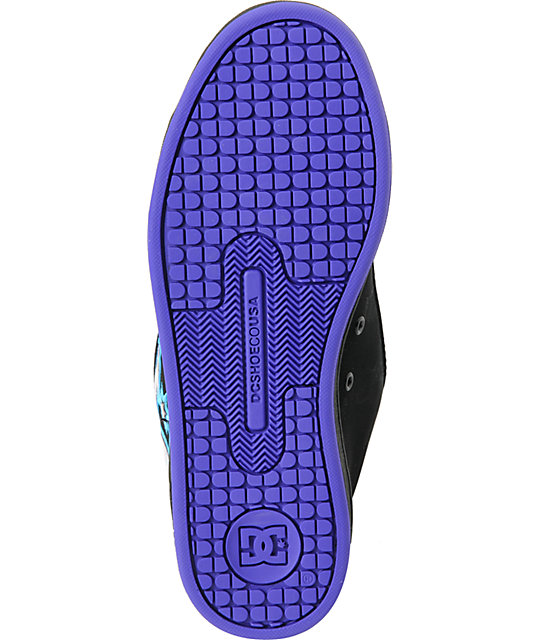 DC Court Graffik SE Black & Graffiti Skate Shoes