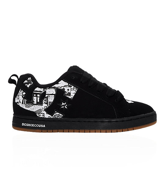 DC Court Graffik SE Black & Print Shoes