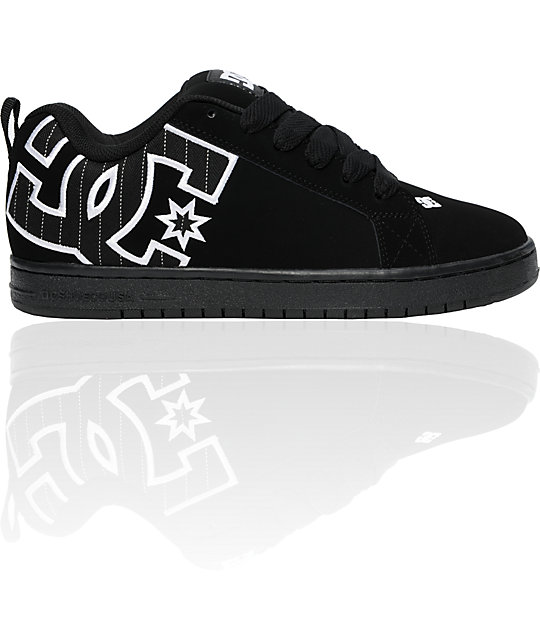 DC Court Graffik SE Black & White Pin-Striped Shoes