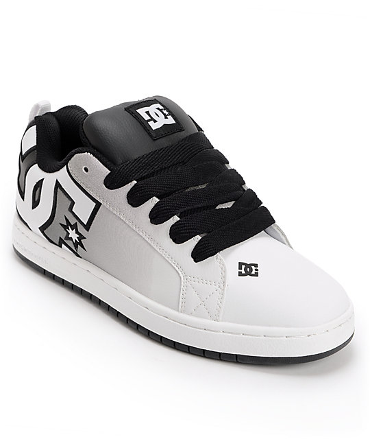 DC Court Graffik SE Black & White Print Skate Shoes
