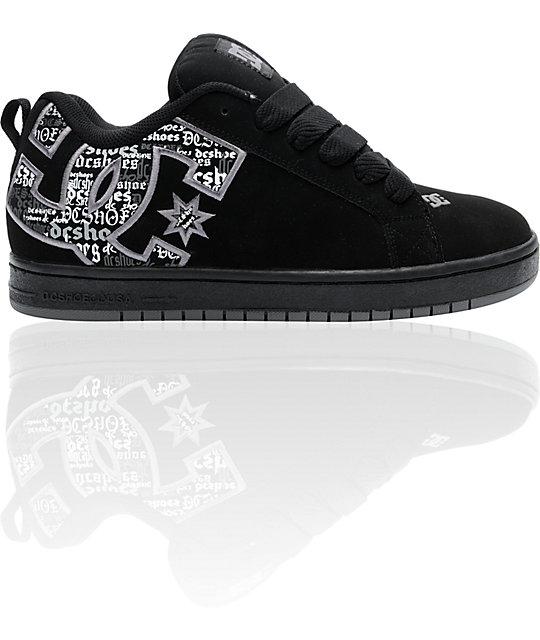 DC Court Graffik SE Black Battleship Armor Skate Shoes