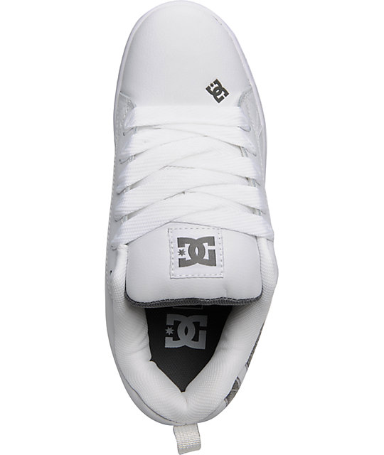 DC Court Graffik SE White, Grey & Herringbone Shoes
