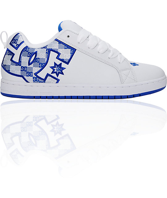 DC Court Graffik SE White & Royal Shoes