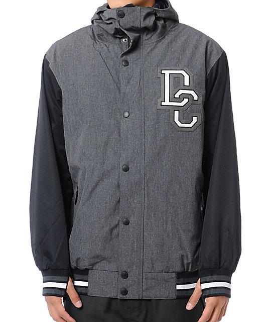 DC DCLA 10K Black Varsity Snowboard Jacket