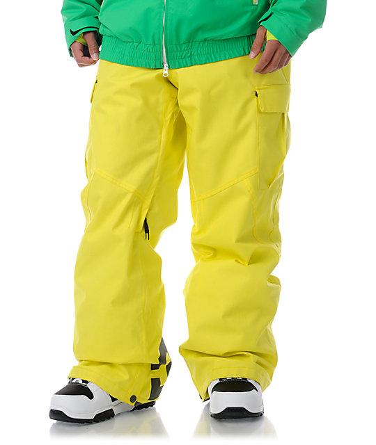 DC Donon Blaze Yellow 10K Snowboard Pants