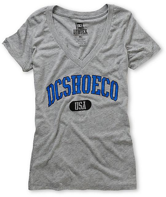 DC Dyrdek Heritage Grey V-Neck T-Shirt
