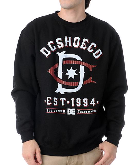 DC Dyrdek Throwback Black Crew Neck Sweatshirt