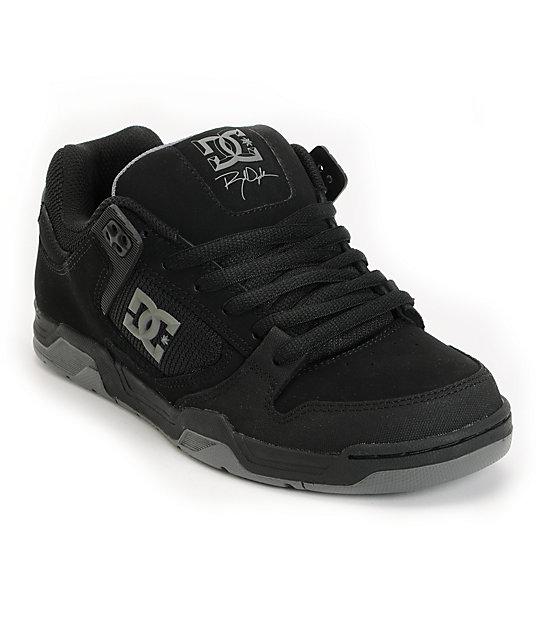 DC Flawless Dyrdek Black, Battleship & Black Skate Shoes