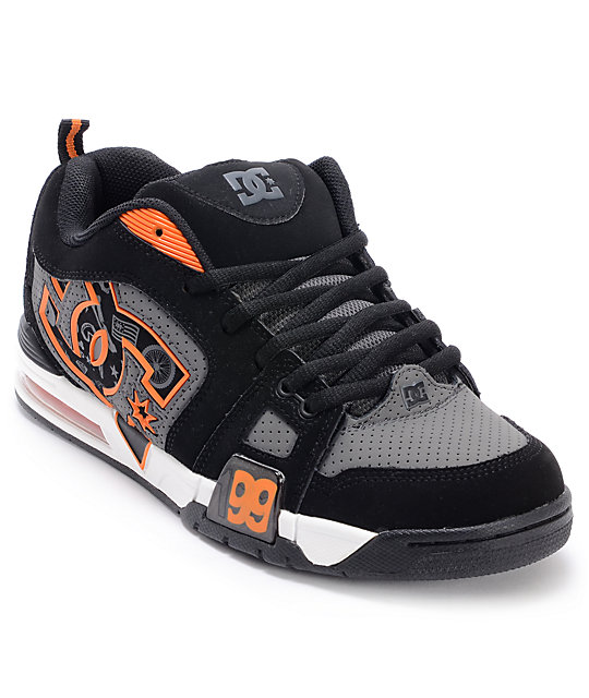 DC Frenzy TP Frenzy Black & Battleship Skate Shoes