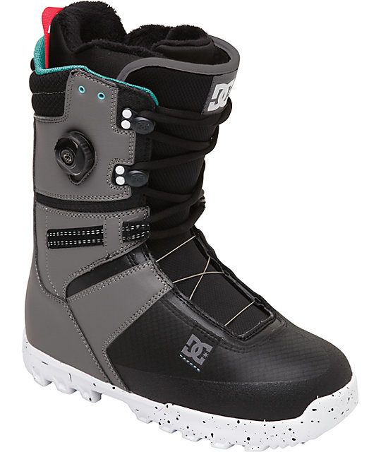 DC Gizmo Grey & Black Snowboard Boots