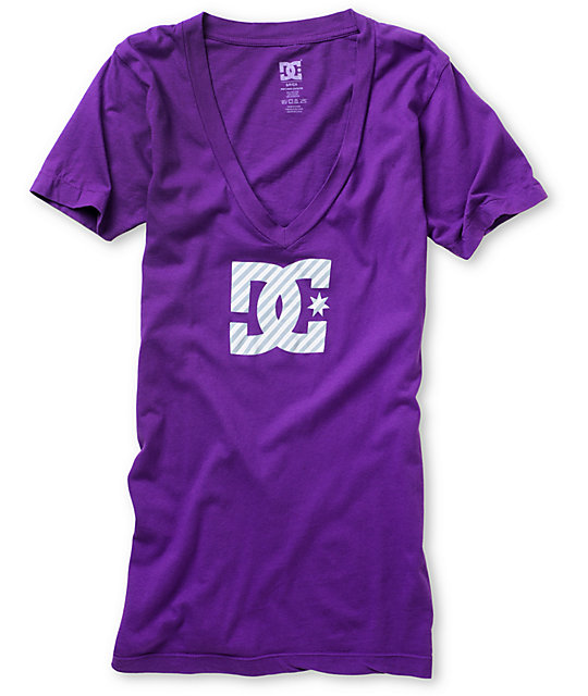 DC Glasgow Purple V-Neck T-Shirt