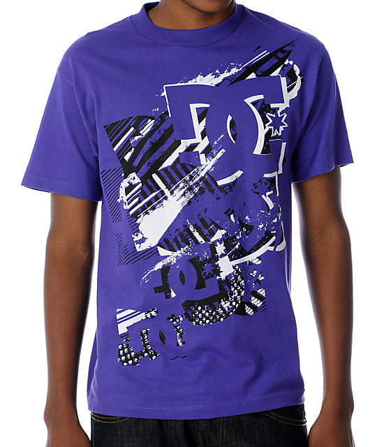 DC Got Real Blasted Purple T-Shirt