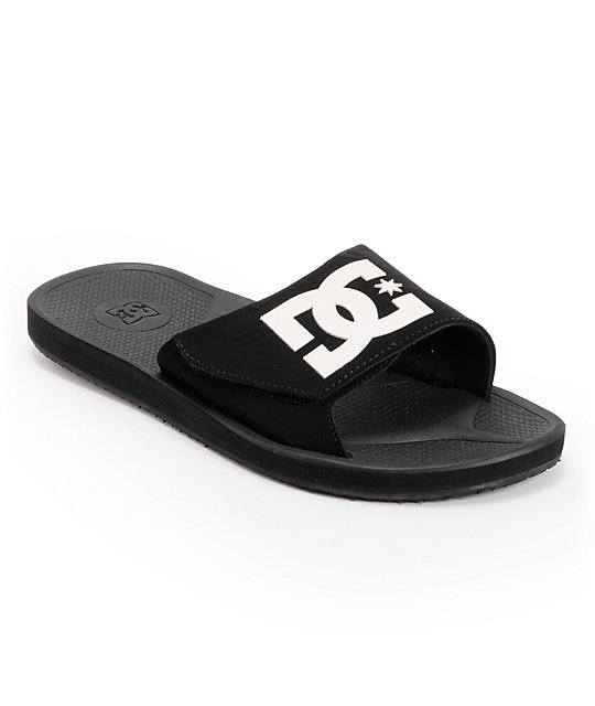 DC Graffik Slide Black & White Sandals
