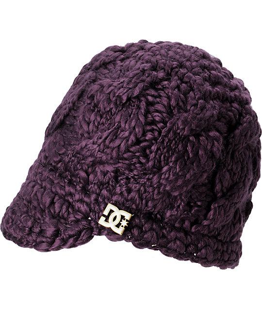 DC Jora Purple Visor Beanie