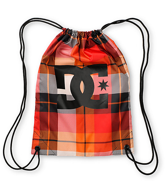 DC Keep Away Plaid Drawstring Bag