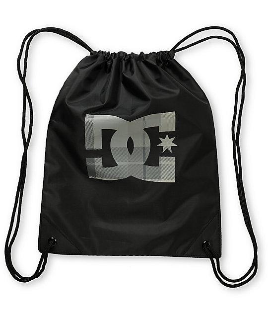 DC Keep Gin Away Black Drawstring Bag