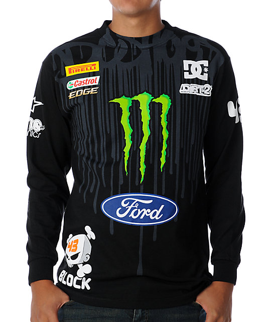 DC Ken Block Drip Black Long Sleeve T-Shirt