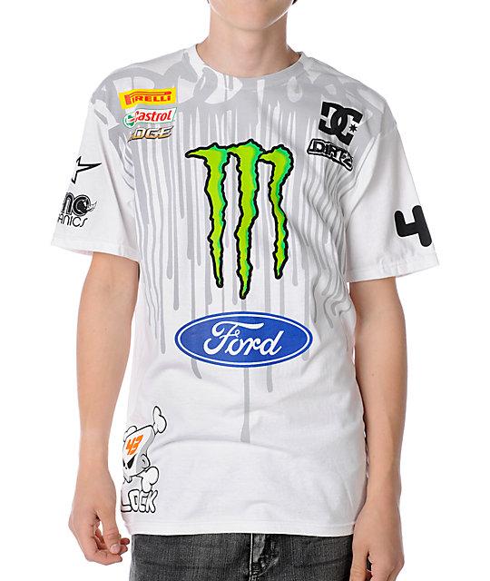 DC Ken Block Drip White T-Shirt